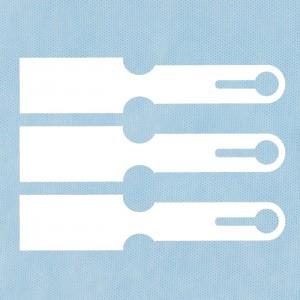 Net identification label blanco